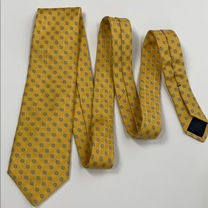 Brooks Brothers Yellow Flower Tie
